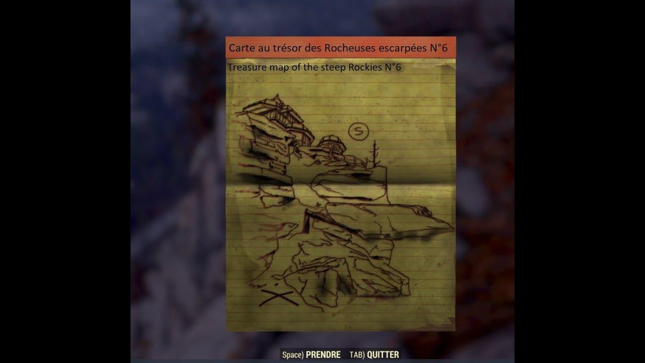 fallout 76 carte au tresor Fallout 76 Carte au trésor des Rocheuses escarpées N°6   YouTube