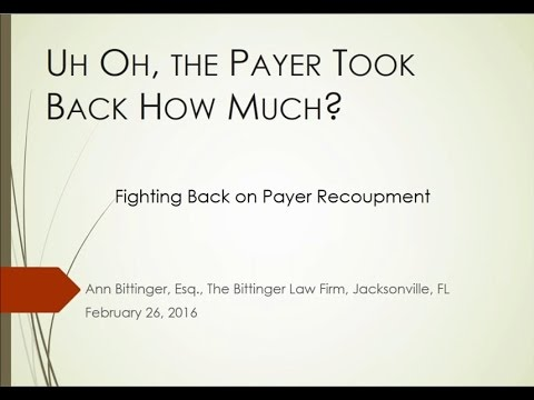 Oh Law Firm >> Uh Oh The Payer Took Back How Much The Bittinger Law Firm