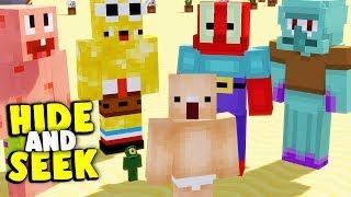 VERSTECKEN in BIKINI BOTTOM | Minecraft Hide and Seek