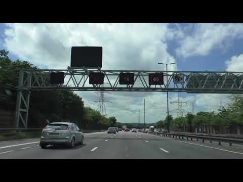 Driving On The A38M, M6 & M5 Motorways From Birmingham To Droitwich, England