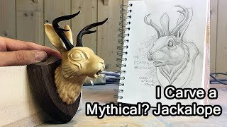 Carving A Mythical Jackalope, Or Is It Mythical?
