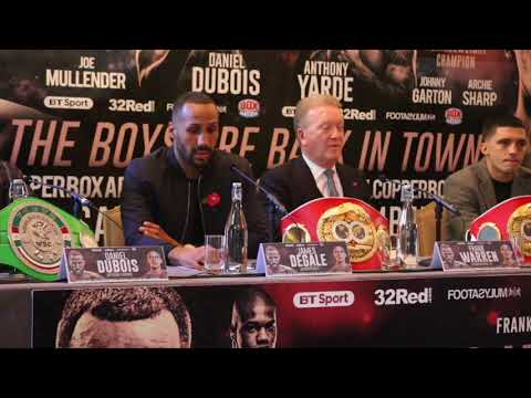 JAMES DeGALE / FRANK WARREN / LEE SELBY -FULL & UNCUT PRESS CONFERENCE / THE BOYS ARE BACK IN TOWN