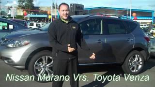 Bremerton Toyota Venza 2012 Vs. Seattle Nissan Murano 2012