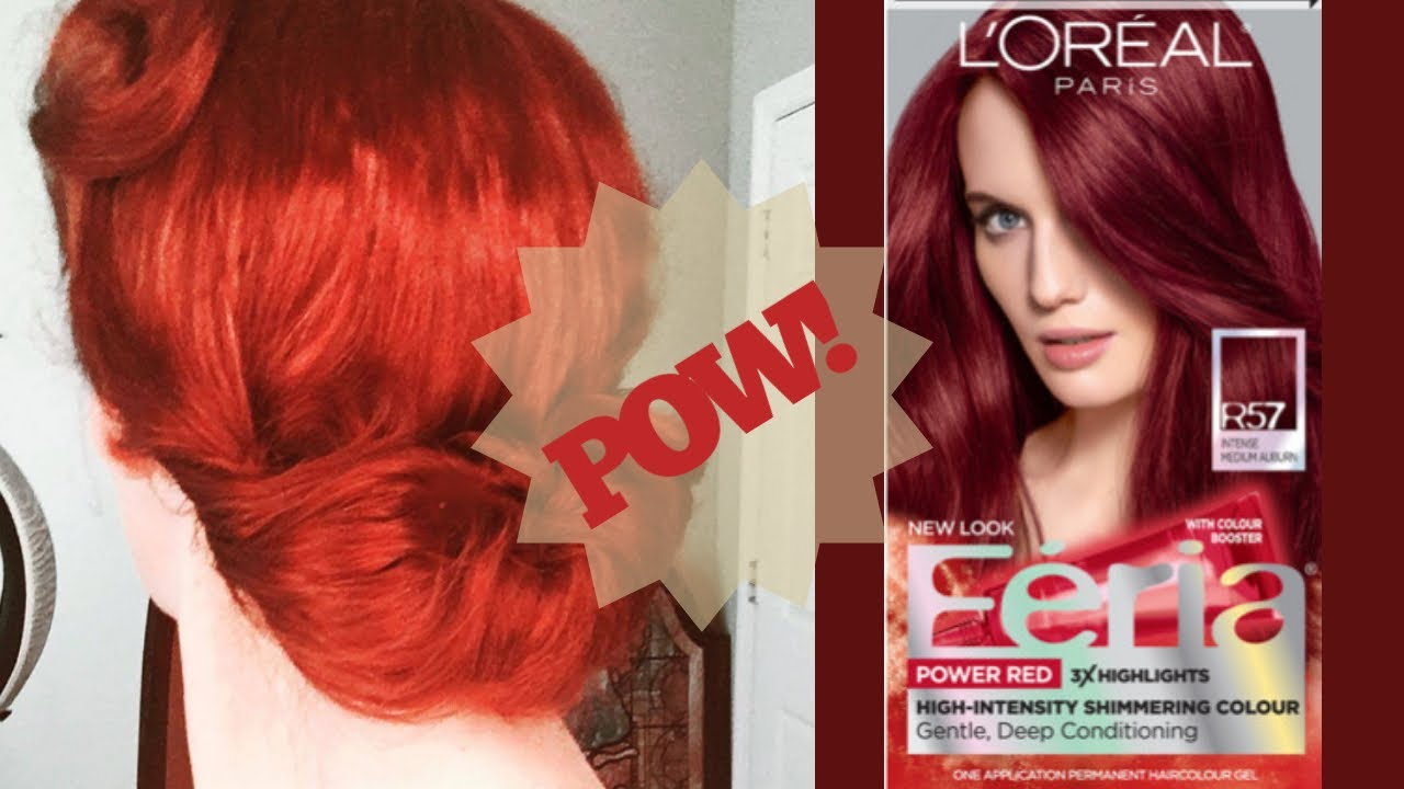 Pow Feria Power Reds Ruby Rush Hair Color Review Youtube