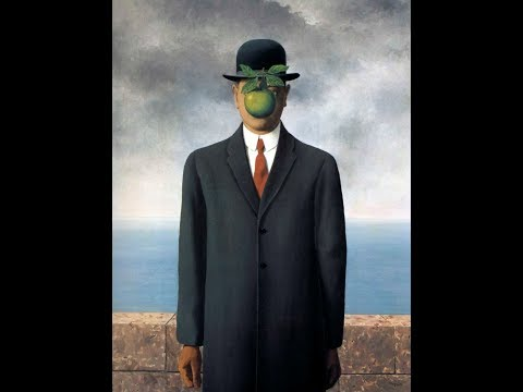 The Son of Man Painting by René Magritte #world famous painting!