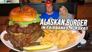 Alaskan Burger Challenge in Fairbanks w/ Katina Eats Kilos!!
