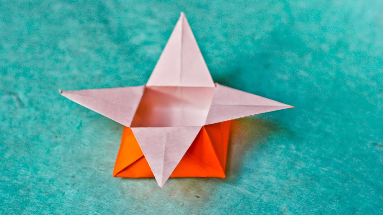 how to make an easy origami star box youtube