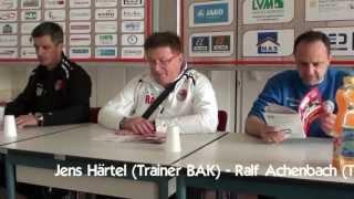 Berliner AK 07 versus VfB Auerbach - Pressekonferenz + Zugabe