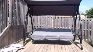 Black Iron Swinging Bed Frames With Mattress And Canopy
