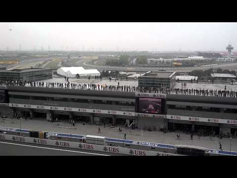 2012 Shanghai F1 pre-start warm up