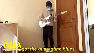 'I've got the quarantine blues!' This musician turns all of our feelings into a bop l GMA Digital