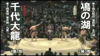 2012年大相撲春場所 千代大龍関の全取組 11勝4敗・勝ち越しおめでとう!!...