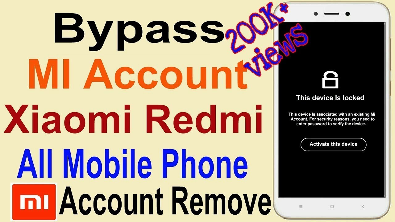 How to Remove Mi Account | Bypass Mi Account Without PC | Remove Blocked  Redmi MI Account