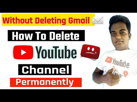 How To Delete YouTube Channel permanently without deleting gmail account in Hindi