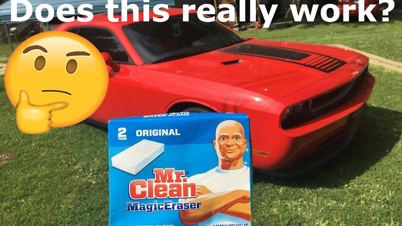 does mr clean magic eraser actually work on cars youtube. Black Bedroom Furniture Sets. Home Design Ideas