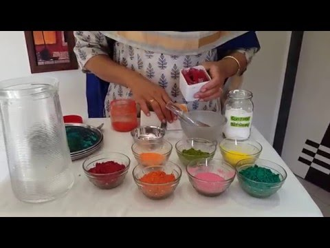 How to make ecofriendly holi colours at home