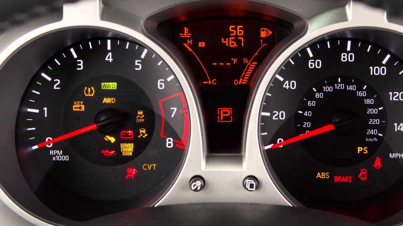2015 Nissan Juke Warning And Indicator Lights Youtube