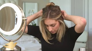 Repeat youtube video How to: Simple steps to create a romantic, wedding-inspired updo