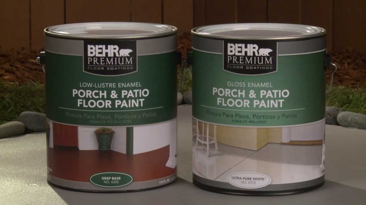 How To Apply Behr Premium Porch Amp Patio Floor Paint Youtube