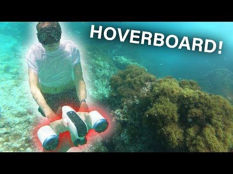 Mit Unterwasser HOVERBOARD im Meer tauchen!! (schnell) +Musikvideo