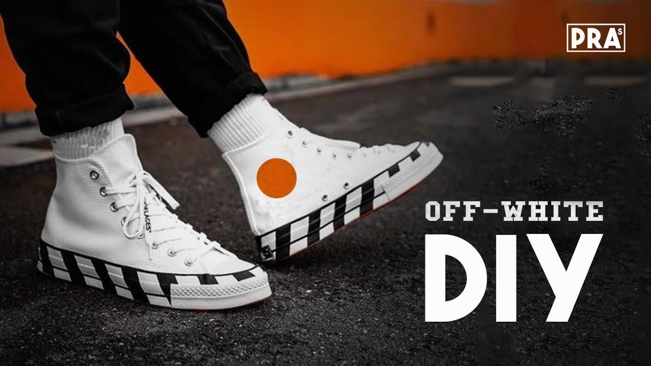 1821169fa9e66e How To Make Off White Converse Custom Sneaker