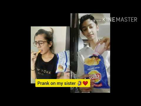 Lays Prank With Sister 😁(gone Wrong) |first Vlog Need Blessing👼❤|ISHAAN SHARMA