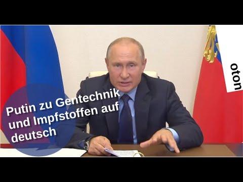Putin zu Gentechnik und Impfstoffen auf deutsch