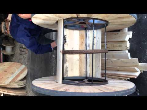 Steel Wooden Cable Drums Assembly Video