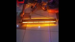 Lampu light bar strobo 97cm led cob plasma yellow includ magnet n indikator lampu