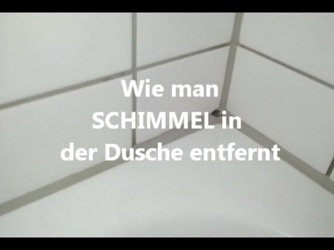 schimmel aus der dusche entfernen youtube. Black Bedroom Furniture Sets. Home Design Ideas