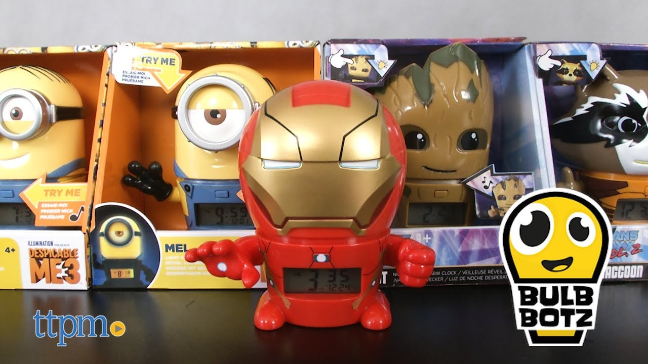 1e78dbb5303d Marvel Avengers Iron Man Night Light Alarm Clock from BulbBotz - YouTube
