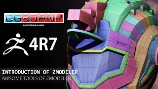 zbrush 4r7 tutorial use of zmodeler detail