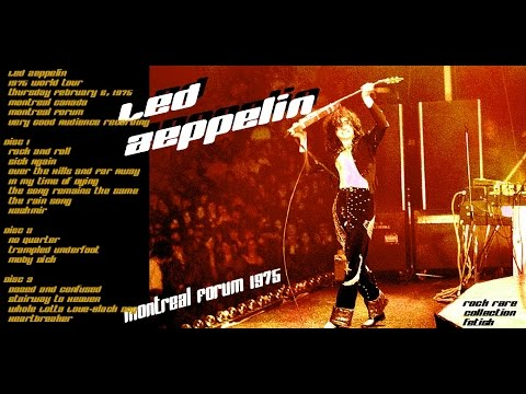 Led Zeppelin Live Rare Bootleg |The Forum, Montreal, Feb 26,75, Great Audience Recording