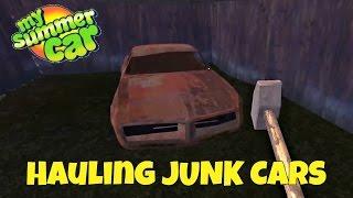 Hauling Junk Cars - My Summer Car Gameplay - EP 10