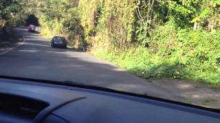 Driving fun in Puerto Rico, getting run off the road by a truck