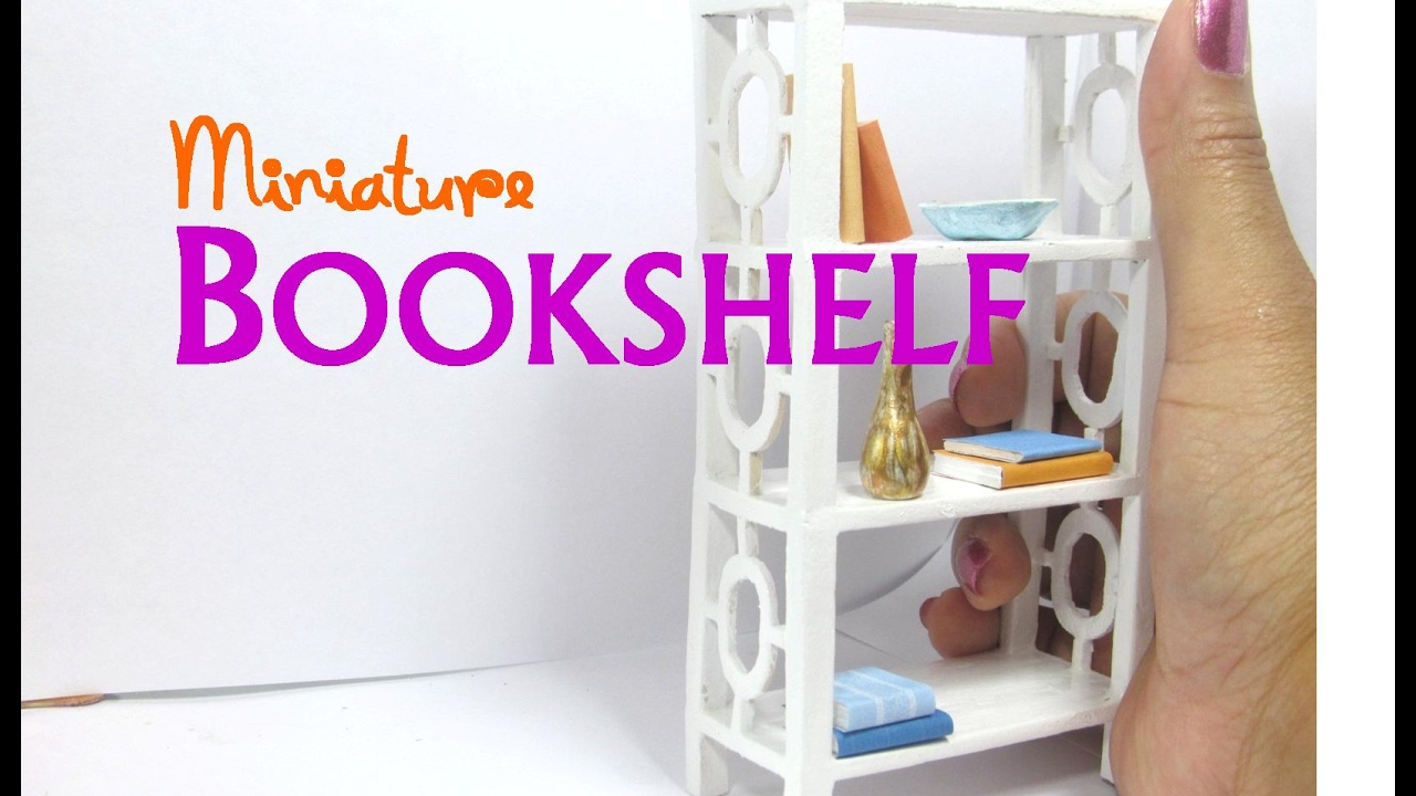 how to build miniature furniture. DIY Easy Bookshelf Dollhouse Furniture Miniature How To Build H