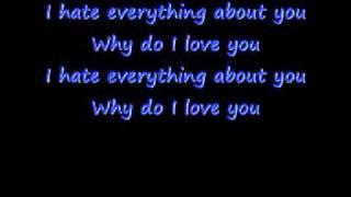 Three Days Grace - I Hate Everything About You - Lyrics