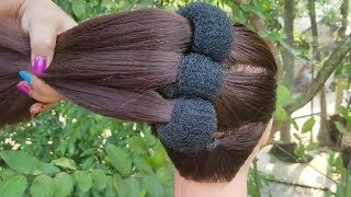 New Hairstyle For Party /Wedding    simple hairstyle    bridal hairstyle    prom hairstyles