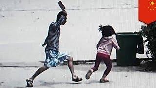 Китаец напал на детей с ножом