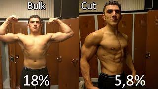 18 to 6% Bodỳfat transformation | Bulk to Cut | Natural no Steroids
