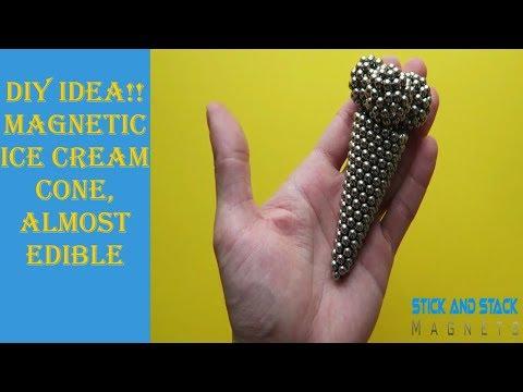 DIY IDEA!! Magnetic Ice Cream Cone, Almost Edible