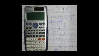Inverse and Determinant of 3X3 Matrix using Calculator