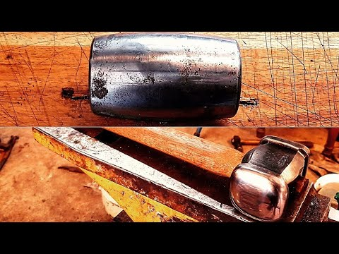 Forging A Hammer From A GIANT Roller Bearing!