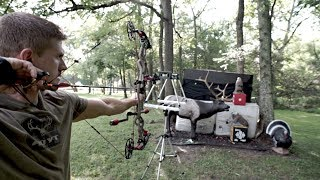 My Complete Bowhunting Setup Hoyt REDWRX 320 FPS!! 😳   Bowmar Bowhunting  