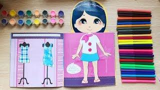 Đồ chơi bé gái dán hình trang điểm váy đầm công chúa An An, Những ngôi sao nhỏ (chị Chim Xinh)