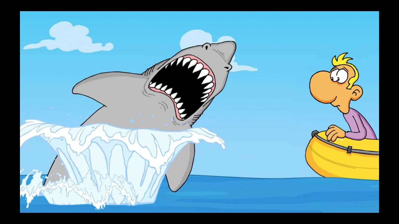 how to make a cartoon shark