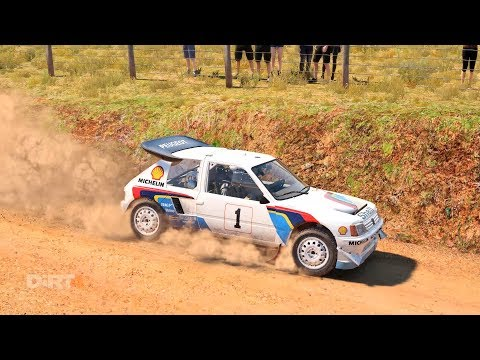 DiRT 4 - Peugeot 205 T16 - Australia, Generated Stage (onboard + Replay)
