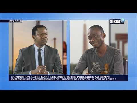 100% BENIN DU 31 01 19 : NOMINATION ACTEE DANS LES UNIVERSITES PUBLIQUES AU BENIN