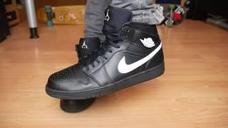 14e75e4651f Air Jordan 1 BLACK WHITE BLACK - Unboxing