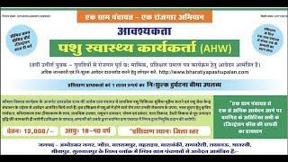 UP Pashupalan Vibhag Bharti 2019 1000 posts Pashu Swasthya Karyakarta